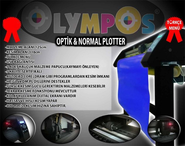 Olympos RD-840 Folyo Kesim Plotter